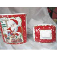 Cheap Christmas Ceramic Biscuit Canister Pot With Airproof Seal Ring 12 X 10 X 18 Cm for sale