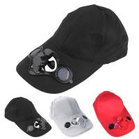 Buy cheap Long Brim Cotton Unisex Baseball Caps 52cm-62cm With Solar Powered Fan Hat Panel from wholesalers