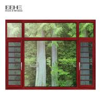 Fly Screen Bronze Aluminium Windows , Turn Aluminum Clad Casement Windows