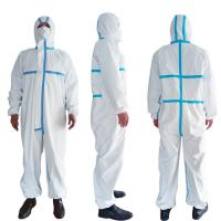 Best PPE Disposable Protective Suit , Chemical Protective Coveralls Clinical Mutiple Sizes wholesale