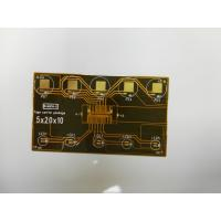 Buy cheap Customize single side flexible printed circuit board with contact pads from wholesalers
