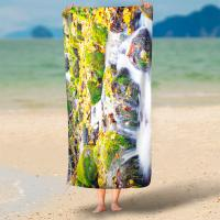 Best 250 Gsm Digital Print Terry Personalized Beach Towels With No Color Limit wholesale