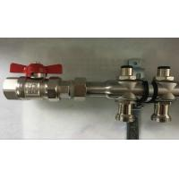 Best Bambool Stainless Steel Water Manifold With Sliver Color , Central Heating Manifold wholesale