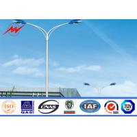 Buy cheap ISO Standard Solar Street Light Poles , Tubular Steel Pole 6-15m Color from wholesalers