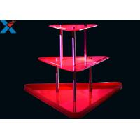 Best Crystal Clear Acrylic Display Stands 3 Layer Lucite Wedding Wine Stand wholesale