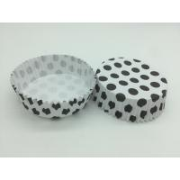 Best Round Shape Wedding Black And White Polka Dot Cupcake Liners Greaseless Non Stick wholesale