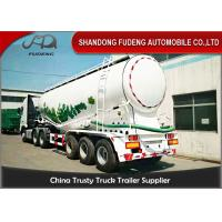 Quality 45m3 Pneumatic Dry Bulk Cement Tanker Trailer With Diesel Engine wholesale