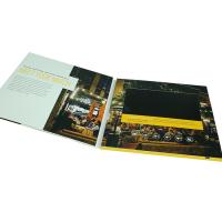 Business Booklet LCD Video Brochure 4 Color CMYK Printing 4GB Memory for sale