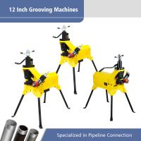 Best 12 Inch Electric Pipe Grooving Machine / Automatic Pipe Threading Machine wholesale