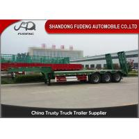 Best 30 Ton - 60 Ton -100 Tons Customized Lowboy Semi Trailers / Drop Bed Low Loader Trailer wholesale