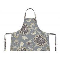 Quality Polycotton Canvas Bib Type Cotton Kitchen Apron With Front Pocket , Cotton Bib Aprons wholesale