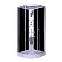 Best Steam Massage with Electronic computer panel Circle Quadrant Shower Cabin with white acrylic tray and roof wholesale