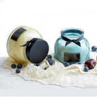 Buy cheap Lace Pattern Glass Soy Candle Jar Natural Soy Wax Candles from wholesalers