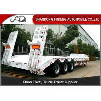Best 3 Axle 60 Ton Low Bed Semi Trailer Truck , Low Loader Trailers  Dimension Customized wholesale