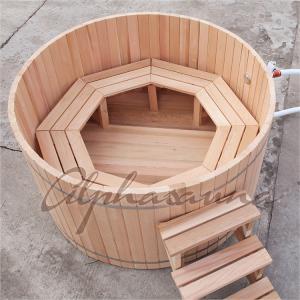 Quality Cedar Fence Wooden Barrel SPA Hot Tub , Wood Fired Bathtub No Electricity wholesale