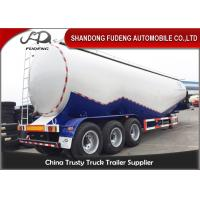 Buy cheap 80 tons Cement Tanker Trailer , 3 axles Mobile Horizontal Cement Fly Ash Silo Semi Trailer for Sale from wholesalers