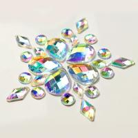 Best Colorful Pear Shaped Sew On Glass Crystals , Extremely Shiny Sew On Gemstones wholesale