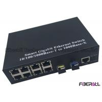 Buy cheap Ring Type Gigabit Multiport Fiber Media Converter With 8 RJ45 Ports And 2 SFP Slots from wholesalers