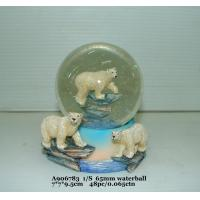 Best Fashion  Polystone Resin Water Globe With Animal Bear Bases 7 X 7 X 9.5 Cm wholesale