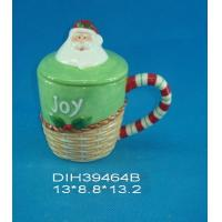 Best Fashionable Xmas Custom Ceramic Mugs With Lid Personalised Santa Clause Cover wholesale