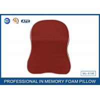 Quality Red Memory Foam Car Neck Pillow With Binding , Good For Neck Head Supporting wholesale