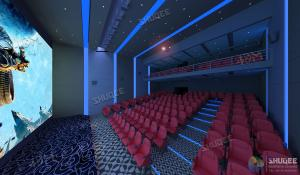 Best International 50-120 People 3D Cinema With 120HZ Projector Silver Screen wholesale