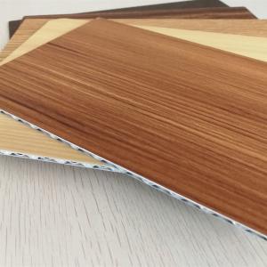 Best 4mm Thick Wood Grain Aluminum Core Panel For Indoor Outdoor Decoration wholesale