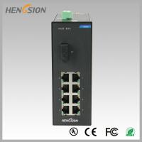 Quality Din rail Lightweight Gigabit Ethernet Switch 8 Electric Port and 1 FX wholesale