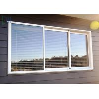 Best Double Glazed Glass Aluminium Three Track Sliding Window With Mosquito Net / Blinds wholesale