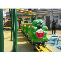 Best Green Worm Shape Kiddie Roller Coaster For Large Parks And Tourist Attractions wholesale