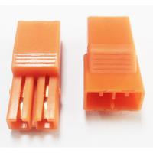 Best 5.60mm Pitch 2P LED Connectors L=27.4 PA66 Orange Led Strip Connector wholesale