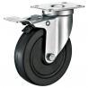 Best Hard Rubber Industrial Trolley Wheels / Black Industrial Steel Casters wholesale