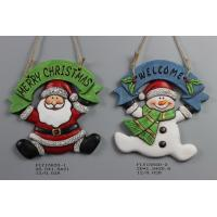 Best Ceramic Christmas Snowman Pendant Gift With Merry Christmas And Welcome Wording wholesale