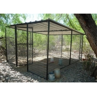 Various sizes stainless steel dog cage dog cages metal kennels outdoor cage for sale