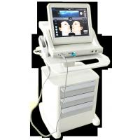 Best Super Stand Stype Three Heads Face Lifting Hifu Machine , 800w Power Skin Rejuvenation 10000 Shots wholesale