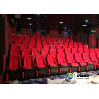 Best Red 3D Movie Cinema / Movie Theatre Seats With Vibration System CE Approval wholesale