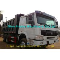 Best 6 x 4 336hp / 371hp Sinotruk Howo Tipper  Dump Truck Hyva Lifting Iso Ccc  thickness of bottom and side wholesale