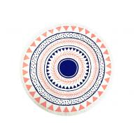 Best Plain Style Simple Australia Beach Round Towel Printed Cotton Tassels 320gsm wholesale