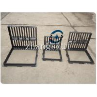 China lockable hot sales gully grate 600x600  500x500,drain cover, ductile iron GGG50-7,  black bituminous paint,machine mould for sale