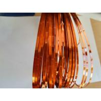 Best Self Bonding Polyurethane UEW Class 180 Rectangular Enameled Copper Wire Flat Ultra Fine Copper Wire wholesale