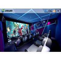Best 5D Motion Ride Movie Theater Seats With Vibration , Movement , Leg Sweep Effect wholesale