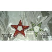 Best Star Shape Ceramic Christmas Gift Tealight Holder With Hand Painting 10.5 X 10.5 X 3 Cm wholesale