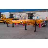 Best 48ft 40 Tons Gooseneck Flatbed Container Trailer , 3 Axles Flatbed Truck Trailer wholesale
