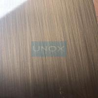 304 Bronze Hairline Stainless Steel Plate-CopperHairline Bronze Stainless Steel for sale
