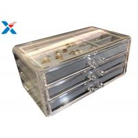 Best Clear Acrylic Makeup Organiser , Acrylic Jewelry Display Box With Velvet wholesale