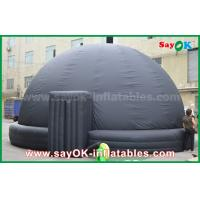 Quality 6m DIA Black Mobile Inflatable Planetarium Dome Projection Tent With Air Blower wholesale