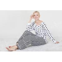 Best Comfortable Dotted Womens Pyjama Sets Long Sleeve Top And Pants Soft Handfeel wholesale