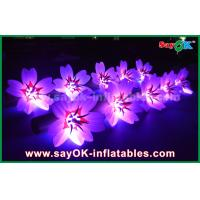 Buy cheap 5m White Long Ground Nylon Cloth LED Flower Chain Inflatable Light Decoration from wholesalers