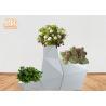Buy cheap Irregular Flower Pots Geometric Shape Floor Vases Glossy White Fiberglass from wholesalers