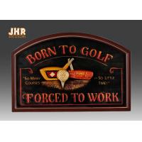 Best Golf Club Wall Decor Decorative MDF Wall Plaques 3D Wall Art Signs Pub Sign Green Color wholesale